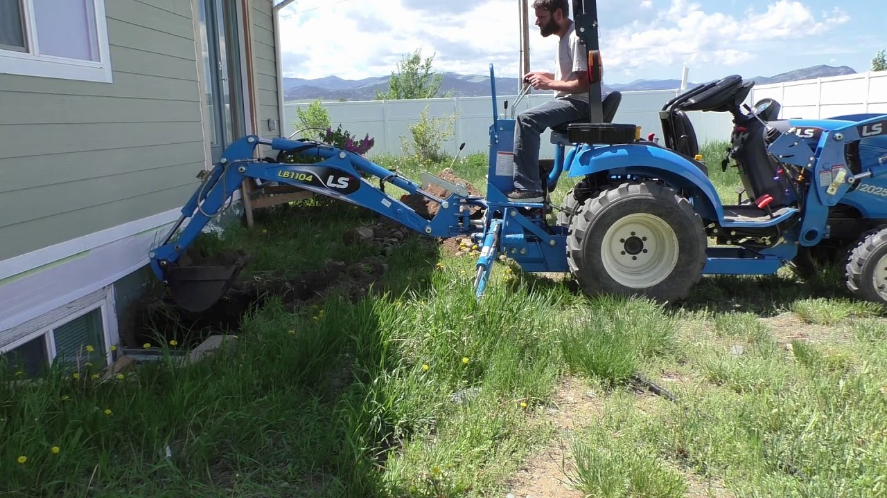 Digging Deep with the LS XJ 2025 and the LB1104 backhoe - Egress window fix