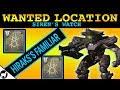 Wanted Hiraks's Familiar Location | Siren's Watch | Destiny 2 Forsaken | Spider Wanted Bounty