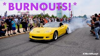 Burnouts, Drifts, Donuts & Rowdy Crowds! BEST CAR SHOW I