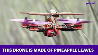 This drone is made of pineapple leaves