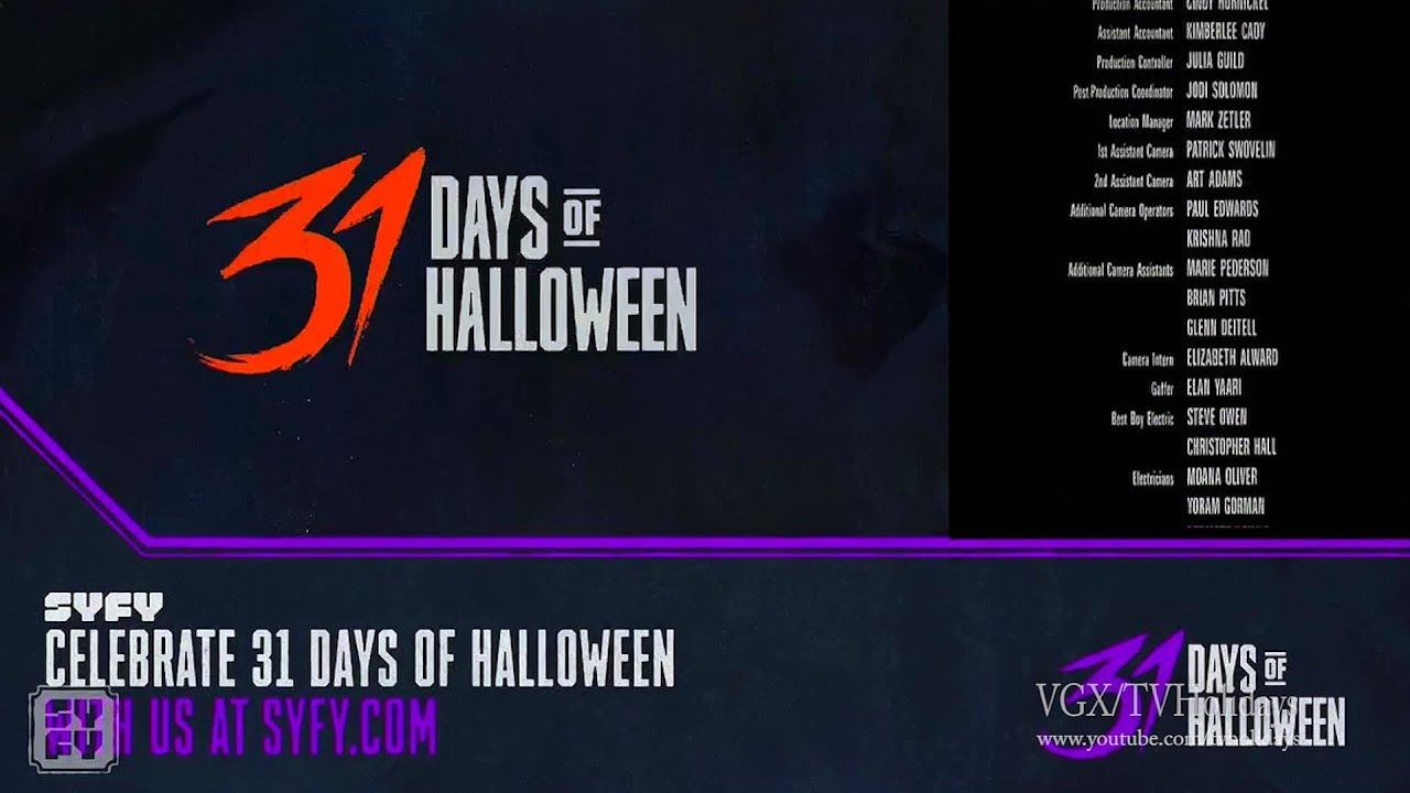 31 Days Of Halloween 2020 Syfy Syfy HD US 31 Days of Halloween Continuity 2018   YouTube