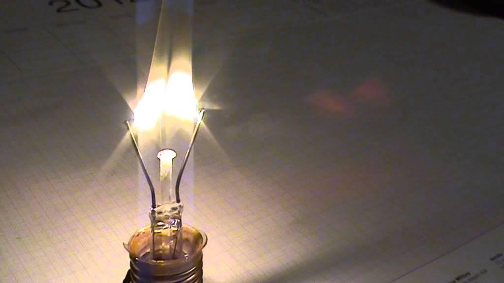 Glühwendel / Glühfaden einer Glühlampe verbrennt - YouTube