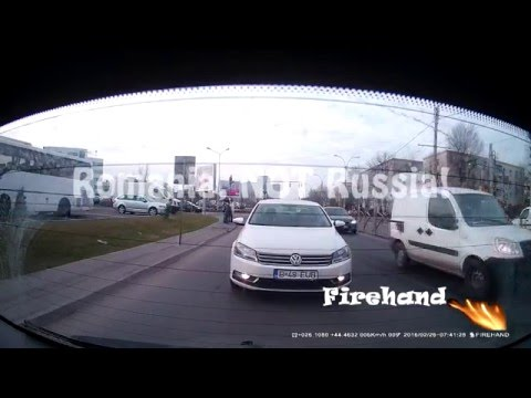 Car crash Romania 26.02.2016 - K1S Car dash cam