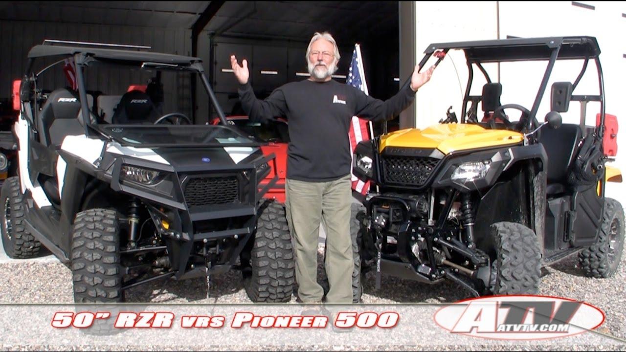 Honda Pioneer Reviews >> ATV Television Special - Polaris RZR vs Honda Pioneer 500 - YouTube
