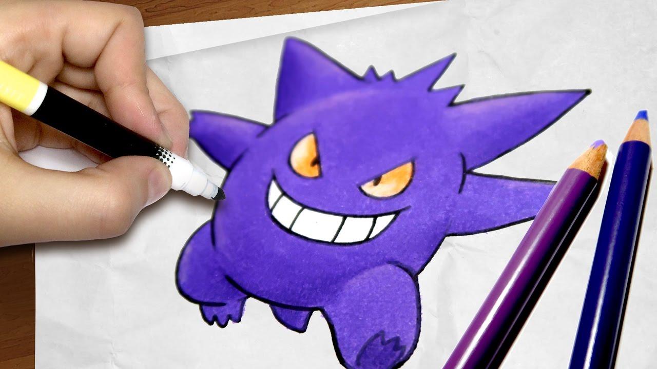 Como Desenhar O Gengar Pokemon Passo A Passo 58 Youtube