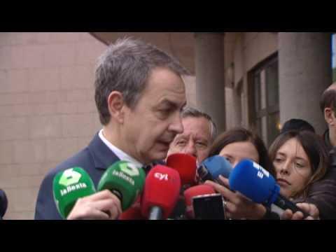 """Zapatero: """"No he tenido amigo más íntegro que José Antonio Alonso"""""""