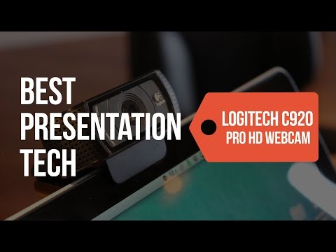 Best Presentation Tech: Logitech C920 Pro HD Webcam