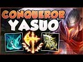 CONQUEROR RUNE TURNS ME INTO NEW YASSUO?! YASUO SEASON 8 TOP GAMEPLAY! - League of Legends