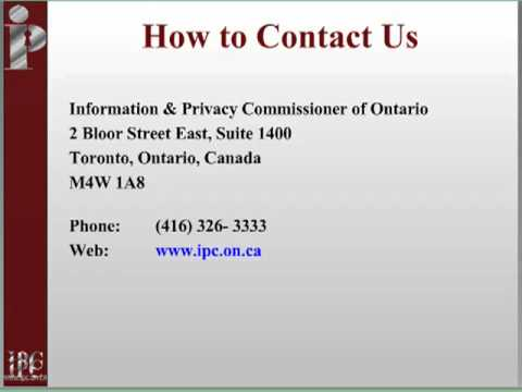 The Consent Requirements under the Personal Health Information Protection Act