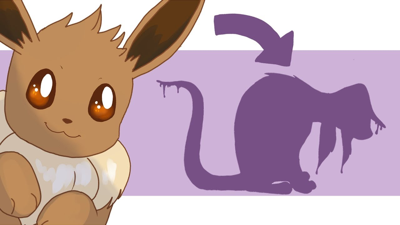Designing a poison type eevee evolution!
