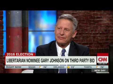Gov. Gary Johnson CNN interview 5/31/16 - GJ blows Trump a kiss