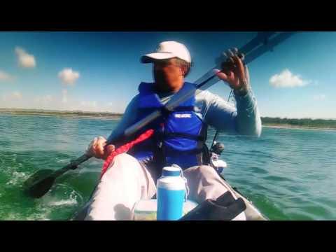 Pesca en kayak Uruguay balneario argentino