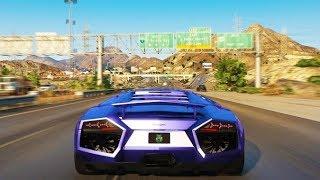 GTA V GRAPHICS MOD AND LAMBORGHINI CAR