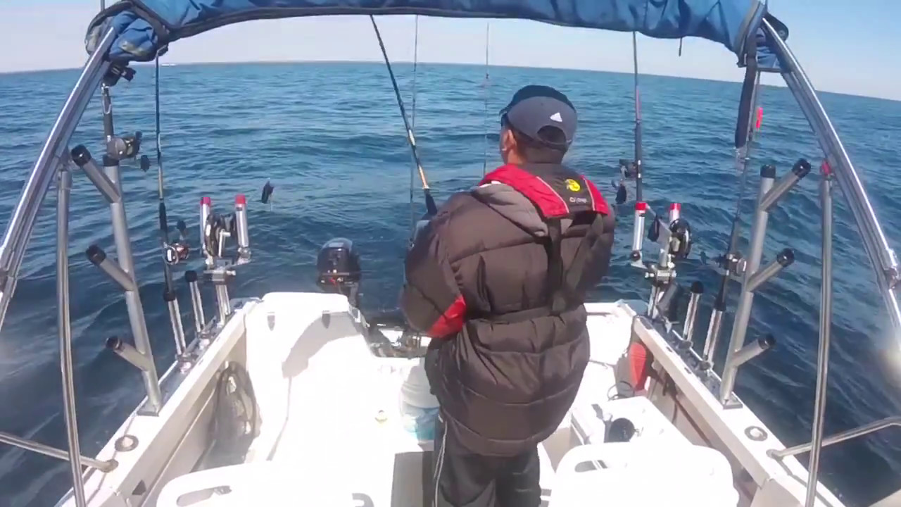 Lake michigan salmon fishing 2017 silver bullets 200ft for Michigan fishing license cost 2017