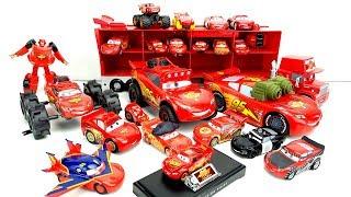 Молния Маквин – большая коллекция игрушечных машин. Маквин монстр трак, Транспортировщик Мак.