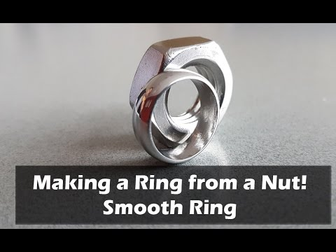 How to Make a Ring from a Nut - Smooth Ring