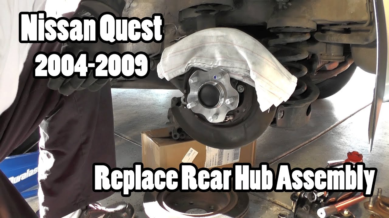 How To Replace A Rear Wheel Hub Assembly On A Nissan Quest Youtube