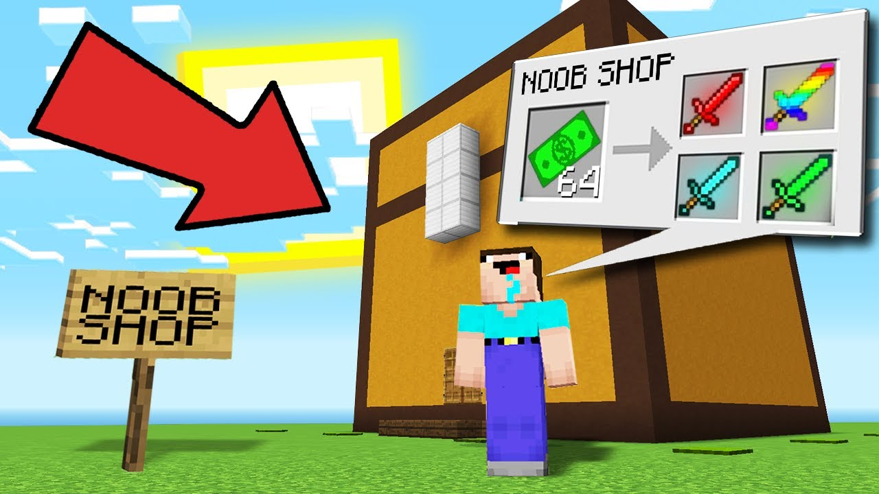 NOOB OPENED HIS SHOP IN CHEST IN MINECRAFT Noob vs Pro Battle