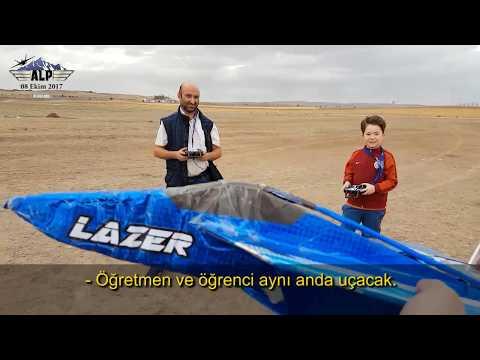 Eğitim Uçuşu... Flysky  fs-i6 trainer-student mode, cable, buddy