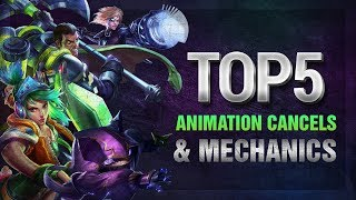 tOP 5 Animation Cancels and Mechanics in League of Legends