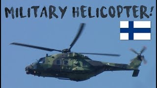 Helicopters everywhere! Trump and Putin security - Finland