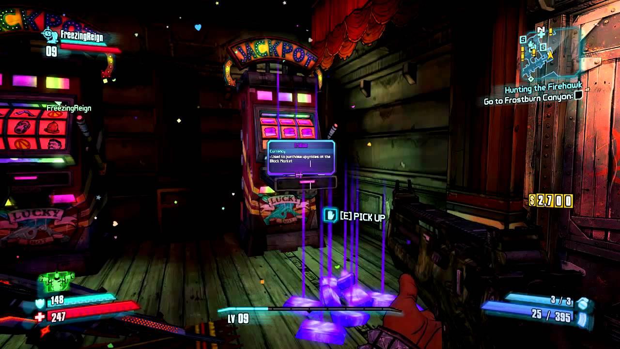 Borderlands 2 slots jackpot glitch
