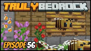AFK Honey Bottle Farming! - Truly Bedrock (Minecraft Survival Let's Play) Episode 56