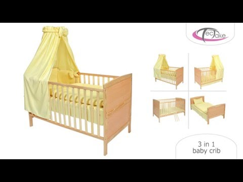 TecTake- 3 in 1 Baby Crib