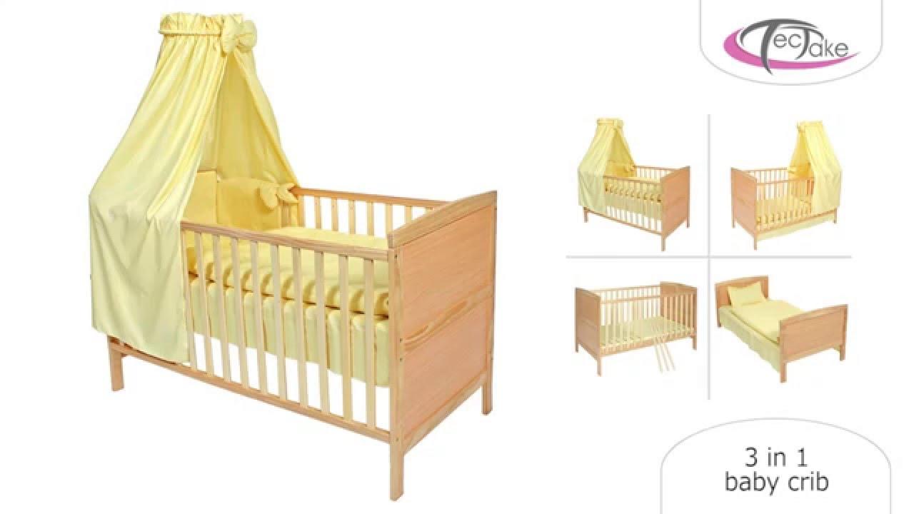 - Tectake - 3 In 1 Baby Crib - YouTube