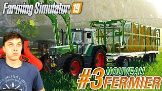 Farming simulator 19 | Nouveau Fermier #3 | Le plateau de paille !