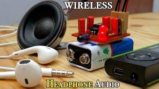 Make IR Wireless Headphone Audio Transmitter & Receiver