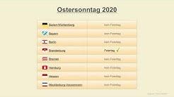 Ostersonntag 2020 - Datum - Feiertage Deutschland 2020