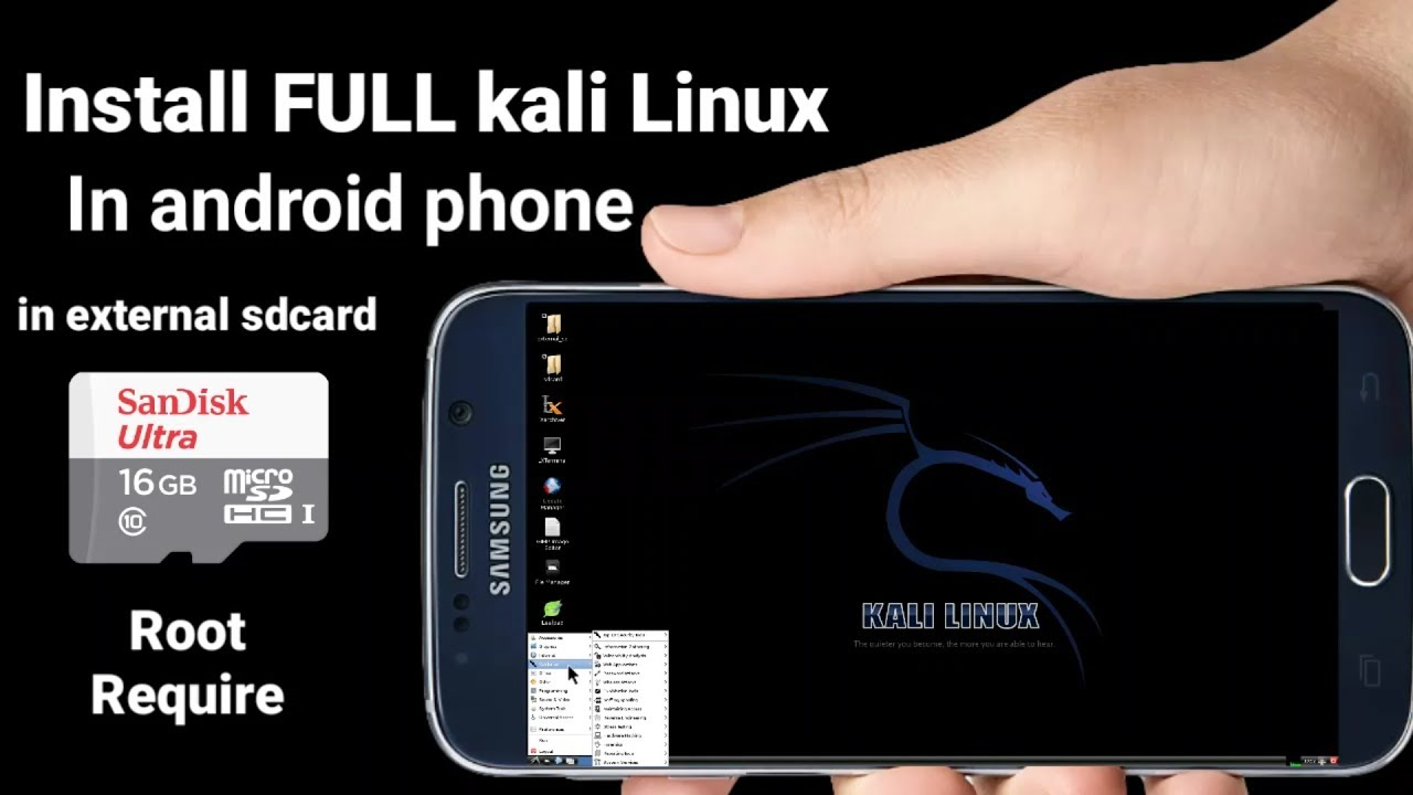 Install Full Kali Linux  on any Android device in external SDCARD