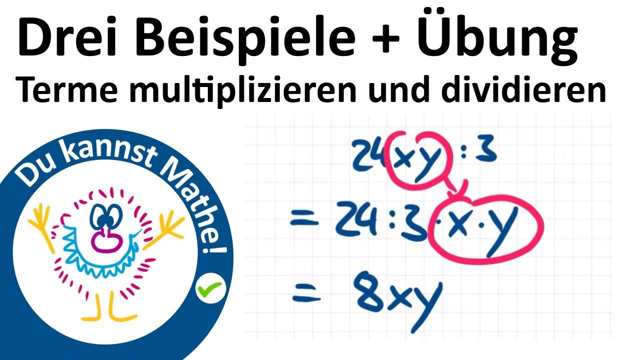 Terme multiplizieren und dividieren, Rechnen mit Termen 20