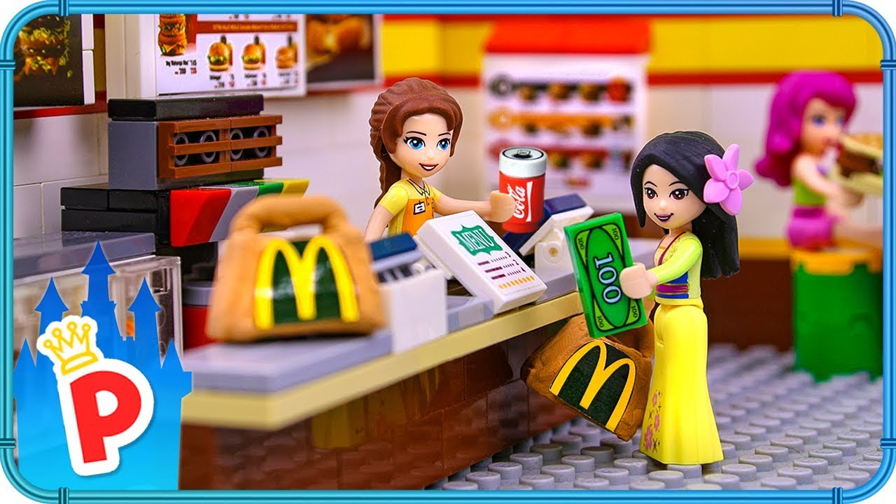 Lego Mulan Goes To Mcdonalds To Buy Food For Charity Youtube