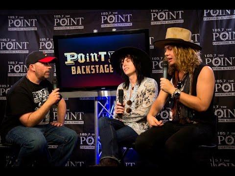 The Struts backstage at Pointfest