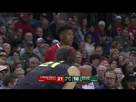 Texas Tech @ Baylor Men's Basketball 2018-2019 Game 18