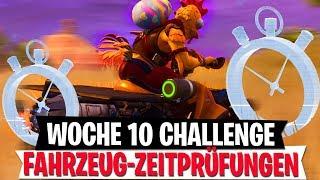 3 Fahrzeug Zeitprüfungen Herausforderung | Woche 10 Season 6 Challenge | Fortnite Battle Royale
