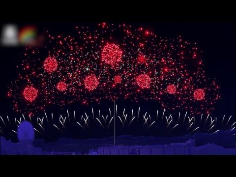 義大世界2017跨年煙火模擬動畫