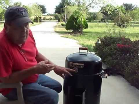 Brinkman charcoal smoker with electric element
