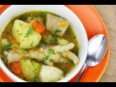 Traditional Caribbean Chicken Foot Soup Recipe Youtube