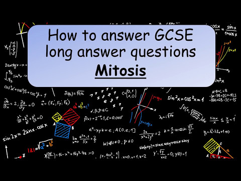 GCSE Science revision:How to answer GCSE long answer questions mitosis - YouTube