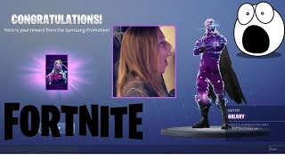 I just suprised my daughter with the Fortnite Galaxy skin. Her reaction is priceless.