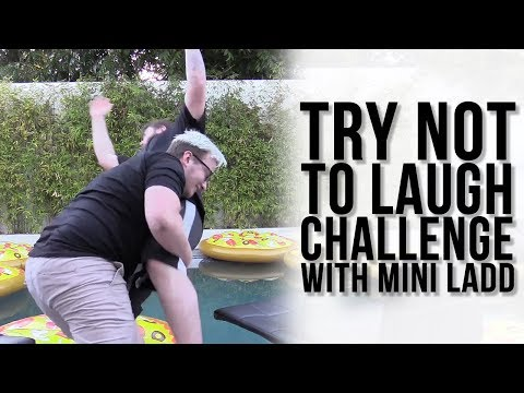 Dirty Dad Jokes + Mini Is A SPITTER! - TRY NOT TO LAUGH CHALLENGE