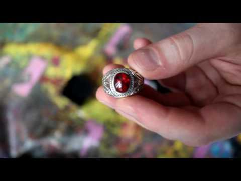 Серебряный перстень с гранатом с AliExpress