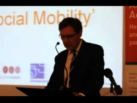 ALAN MILBURN 'How Universities can advance Social Mobility' Part 1