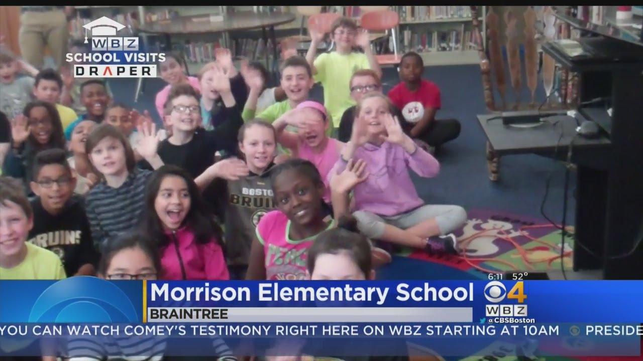 WBZ-TV Weather School Visit Morrison Elementary School In Braintree