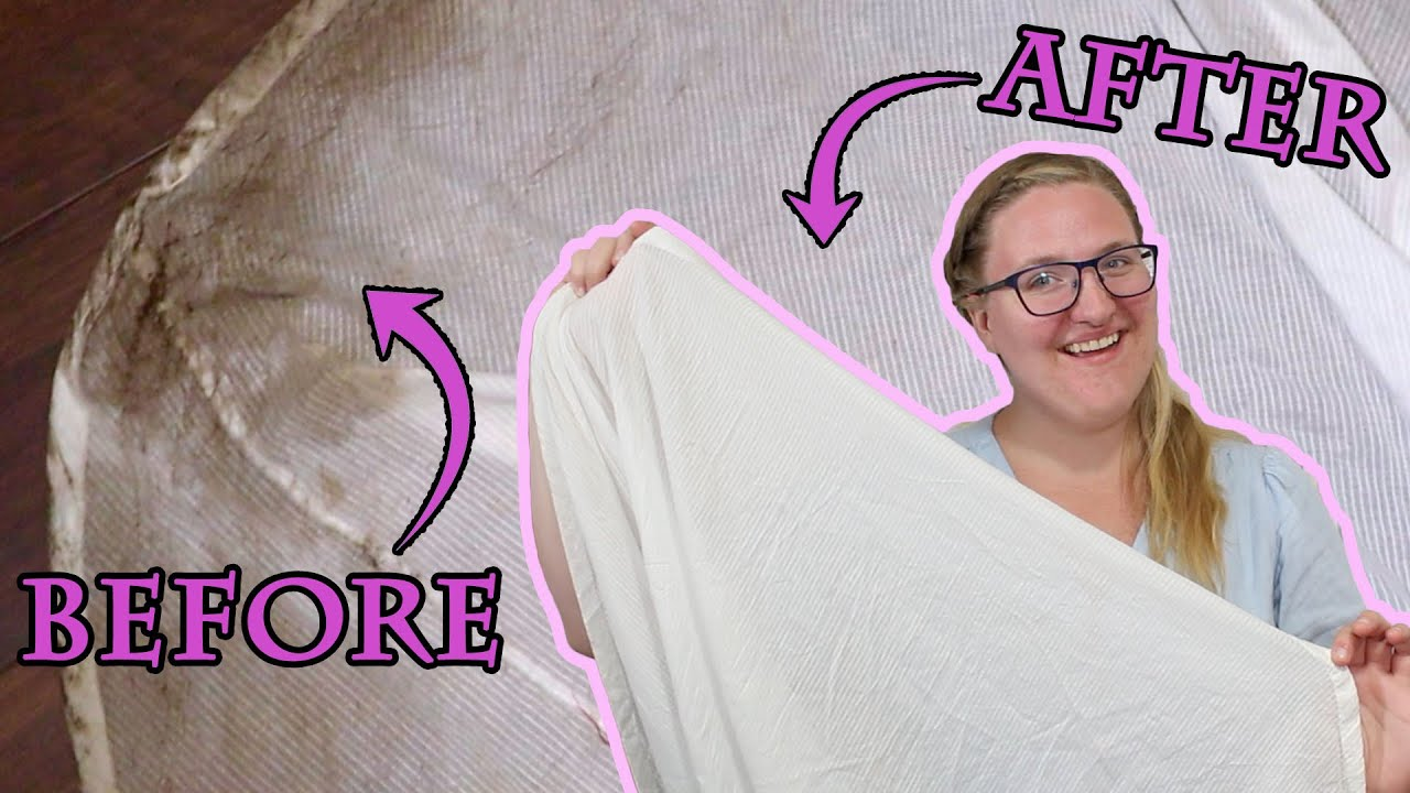 Removing Mud and Grass Stains from my Regency Gown with Everyday Items || Costume Laundry Tips