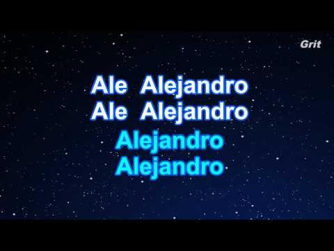 Alejandro - Lady Gaga Karaoke【No Guide Melody】