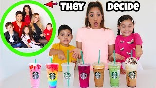 Letting FAMILIA DIAMOND💎 Pick Our Starbucks Drinks!!! | Jancy Family